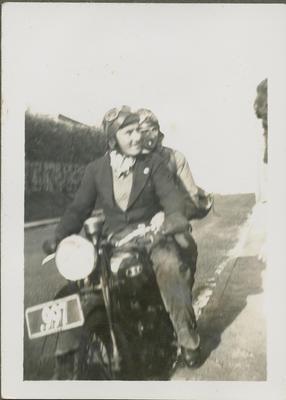 Percy Hamlin and pillion passenger