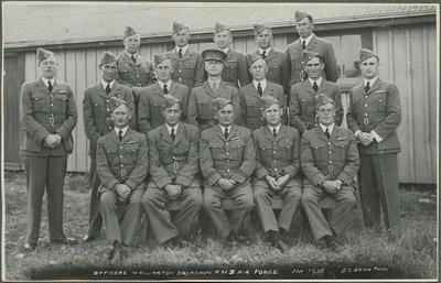 Officers Wellington Squadron RNZ Air Force, Jan 1938
