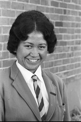 Lucy Koopu, dux of St Joseph's Māori Girls' College for 1969