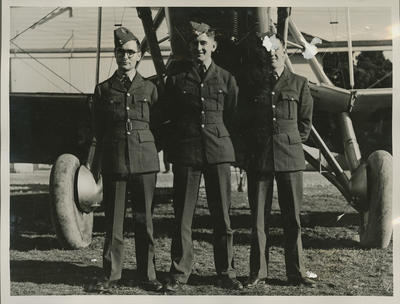 Percy Hamlin and two other RNZAF men
