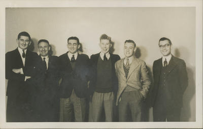 RNZAF group in civilian clothing