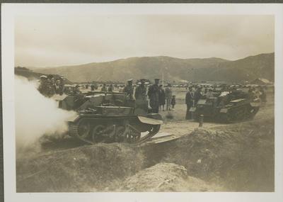 Army tanks on display