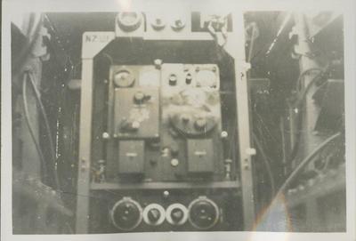 Rear view of RNZAF wireless transmitter