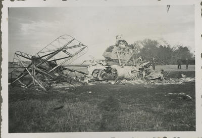 Wreckage of two RNZAF aircraft