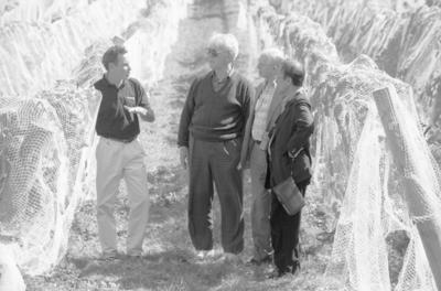 From the left is Gordon Russell, Robert Charpie, Hugo Dunn-Meynell and Nen Khoing Yong