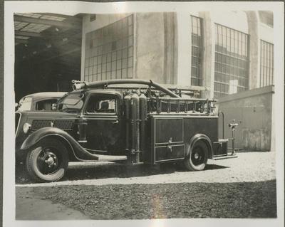 Fire truck at Wigram Aerodrome