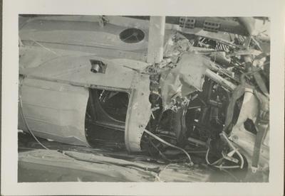 Aeroplane wreckage