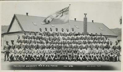 Wellington Squadron, RNZ Air Force, Jan 1938