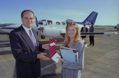 Kevin Farrington and Jenny McAvinue, Hawke's Bay Airport