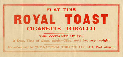 Banner advertisement, Royal Toast Tobacco