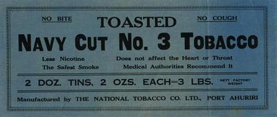 Banner advertisement, Navy Cut No.3 Tobacco