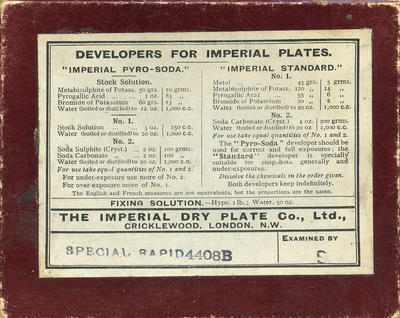 Box, The Imperial Dry Plate Co Ltd
