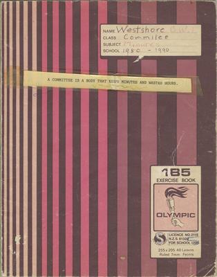 Minute book, Westshore CWI, 1980-1990; Westshore Women's Institute; 2020/45/6