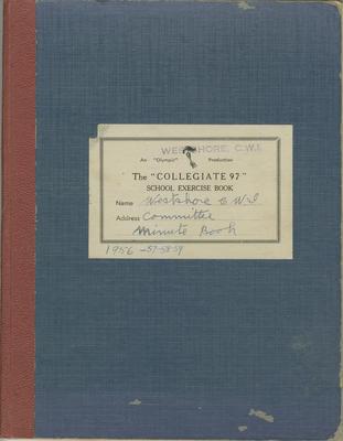 Minute book, Westshore CWI, 1956-1962; Westshore Women's Institute; 2020/45/4