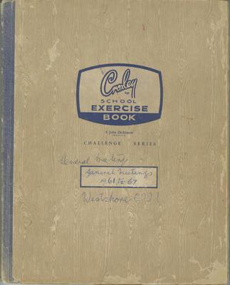 Minute book, Westshore CWI, 1961-1967; Westshore Women's Institute; 2020/45/8