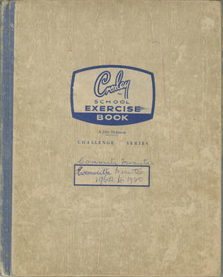 Minute book, Westshore CWI, 1962-1980; Westshore Women's Institute; 2020/45/5