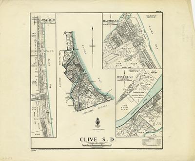Map, Clive Survey District