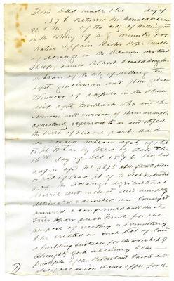 Deed, Draft copy