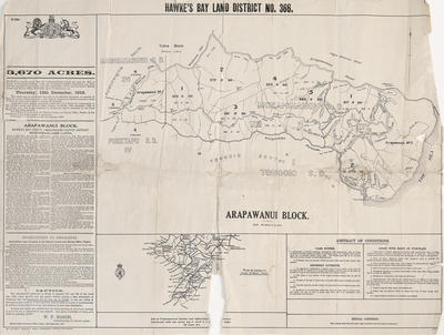 Plan, Arapawanui land block; Marks, Marcus