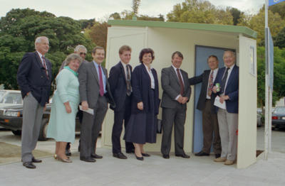 Brian Williams, Anne Stuart, Tony Browlie, Harry Lawson, Ashley Church, Anne Tolley, John Kennedy, Mayor Alan Dick and Ivan Wilson