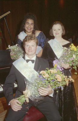 Richard Weston, front, with Margot McLaughlin on the right and Daphne Collins