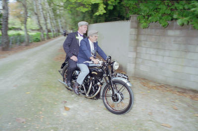 Paul Moroney of Clive takes Rob Scurr to his wedding reception