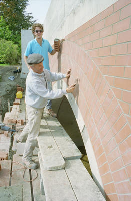 Napier bricklayers Vaughan and Mark Titter