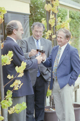 Jean Louis Haberer, and Georges Pauli with Peter Hubscher