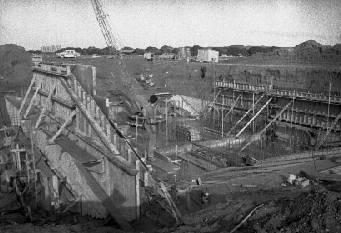 Construction of the stormwater pumping station in the Onekawa industrial area