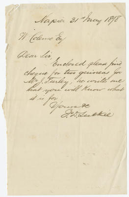 Letter, F D Luckie