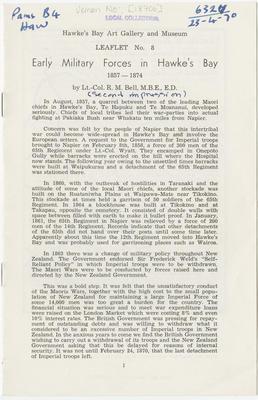 Collection of Hawke's Bay Museums Trust, Ruawharo Tā-ū-rangi, [18706]