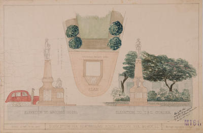 Plan, Suggestion for remodelling South African War Memorial