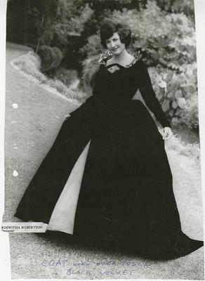Model wearing 1962 Gown of the Year coat