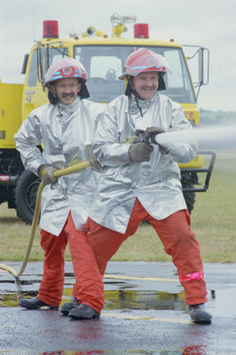 Firefighters Andy Herbert and Dave Harris