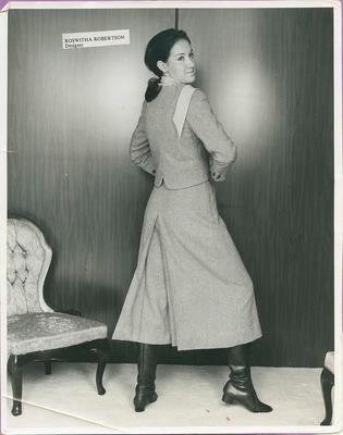 Unidentified female wearing wool suit