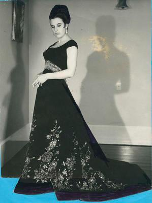 Unidentified female wearing ball gown