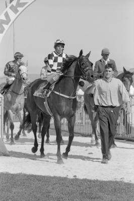 Al Akbar with jockey Gary Grylis