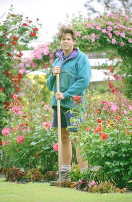 Council horticultural apprentice Jared Kemsley
