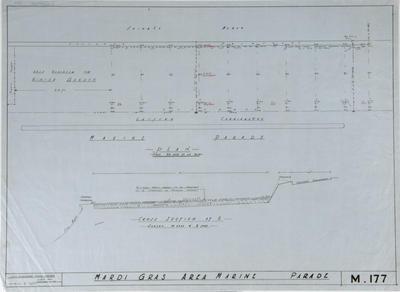 Plan, Mardi Gras Area, Marine Parade; Napier City Council