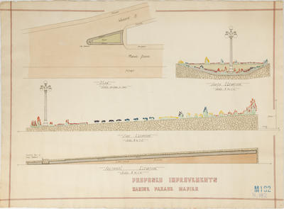 Plan, Proposed Improvements Marine Parade, Napier