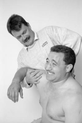 Norm Hewitt and Garry Sye
