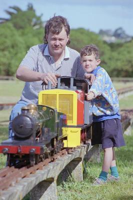 Jason Scott and his son Caleb