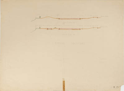 Plan, Typical sections of Model yacht pond and paddling pool, Marine Parade; Napier Borough Council