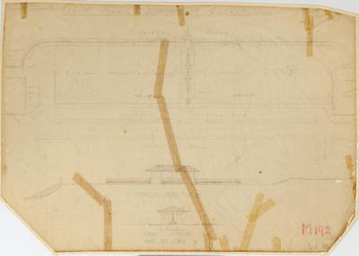 Plan, Marine Parade Sunken Area and Promenade; Napier Borough Council