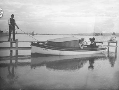 Boat alongside jetty
