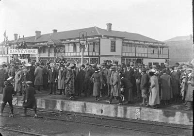 Crowd on railway platform
