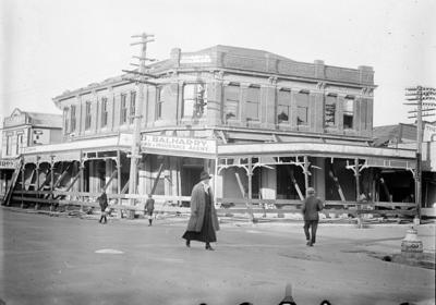 Earthquake damage, Queen's Chambers building