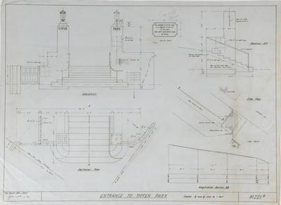 Plan, Entrance to Tiffen Park; Napier City Council