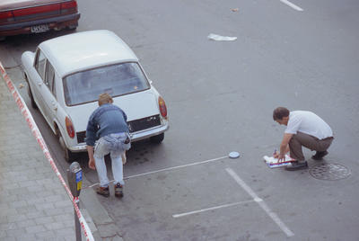 Police taking measurements