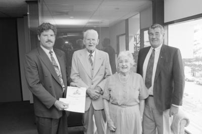 Fred Walters and his wife Marnie with Neville Parkinson and Jeff Parsons